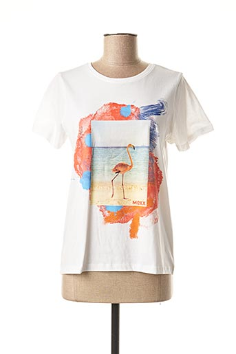 T-shirt manches courtes blanc MEXX pour femme