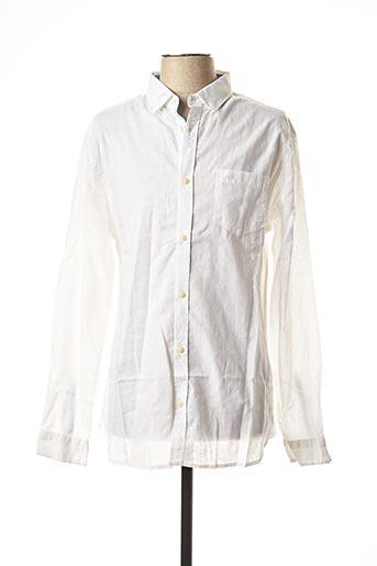 Chemise manches longues blanc TIBET pour homme