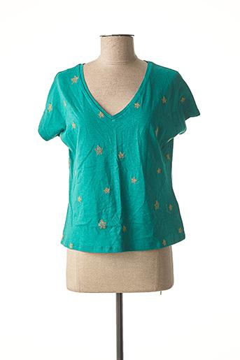 T-shirt manches courtes vert ABSOLUT CASHMERE pour femme