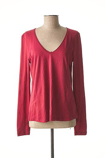 T-shirt manches longues rouge ONE STEP pour femme