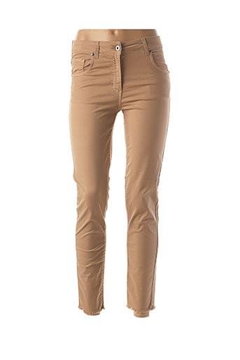 Pantalon 7/8 beige LAUREN VIDAL pour femme