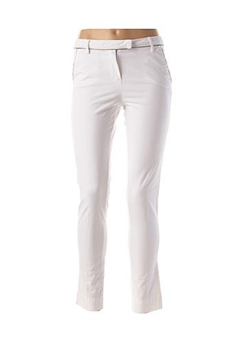 Pantalon 7/8 blanc CARLA KOPS pour femme