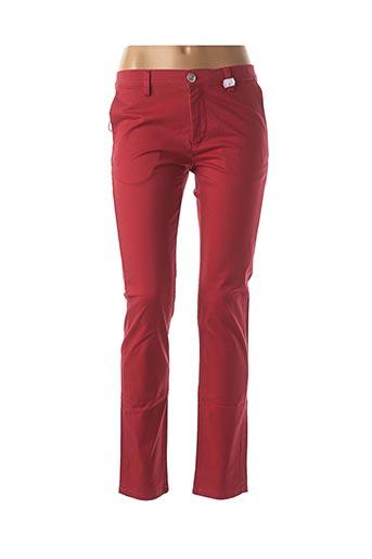 Pantalon casual rouge CARLA KOPS pour femme
