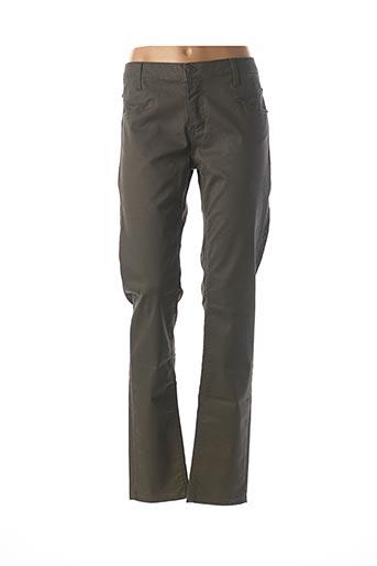 Pantalon casual vert CARLA KOPS pour femme