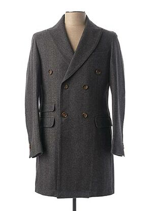 Manteau long gris CARNET DE VOL pour homme
