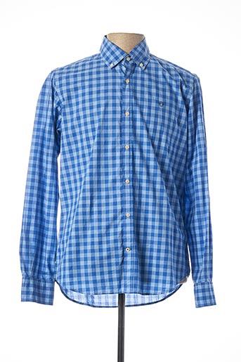 Chemise manches longues bleu FORECAST pour homme