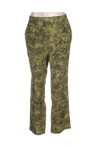 Pantalon casual vert BLANCHEPORTE pour femme