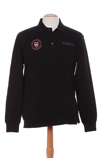 Polo manches longues noir CAMBE pour homme