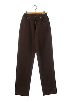 Jeans coupe droite marron OCCHIO pour garçon