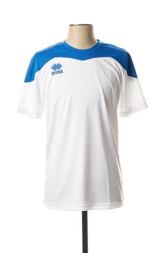 T-shirt manches courtes blanc ERREA pour homme