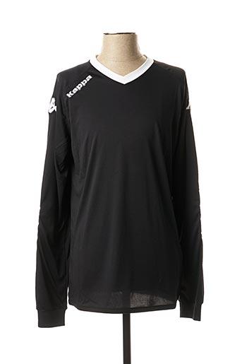 T-shirt manches longues noir KAPPA pour homme