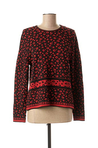 Pull col rond rouge SAINT CHARLES pour femme