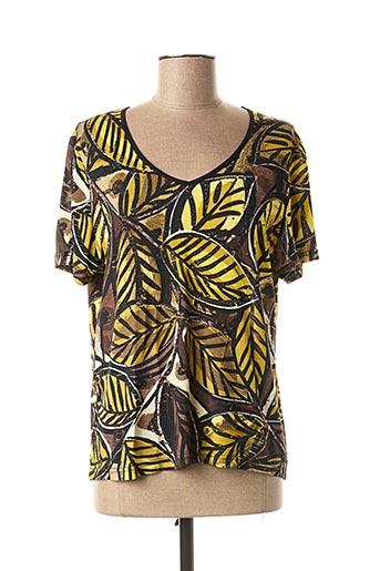 T-shirt manches courtes jaune SAINT CHARLES pour femme