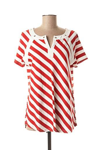 T-shirt manches courtes rouge PAUPORTÉ pour femme