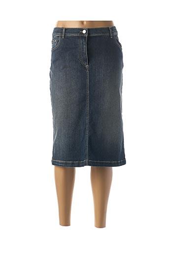 Jupe mi-longue bleu PERSONA BY MARINA RINALDI pour femme