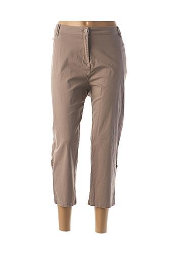 Pantalon 7/8 beige AGATHE & LOUISE pour femme