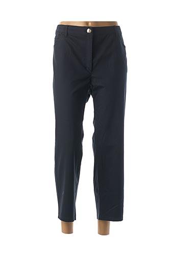 Pantalon 7/8 bleu ZERRES pour femme