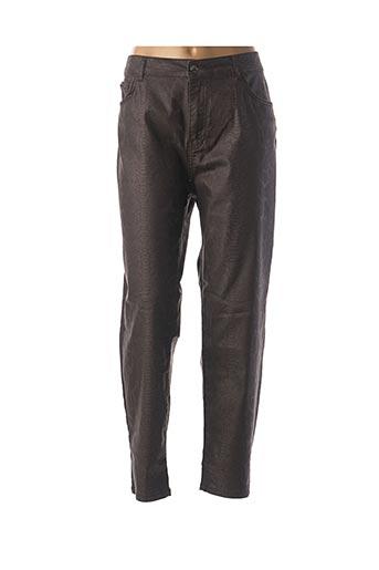 Pantalon casual marron FRED SABATIER pour femme
