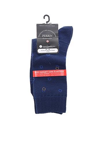 Chaussettes bleu PERRIN pour homme