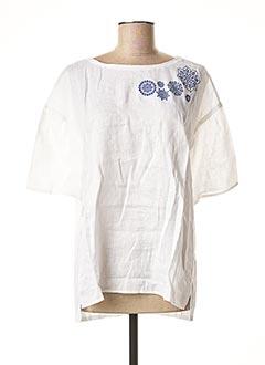 Blouse manches courtes blanc PENNYBLACK pour femme