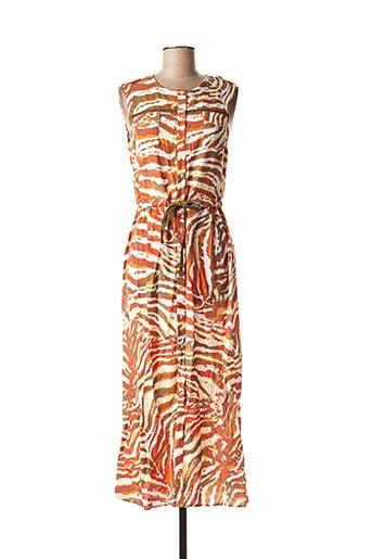 Robe longue orange ONE STEP pour femme
