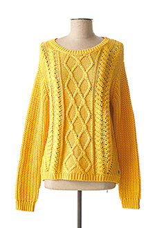 Pull col rond jaune ROXY pour femme