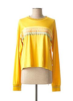 T-shirt manches longues jaune ROXY pour femme