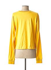 T-shirt manches longues jaune ROXY pour femme seconde vue