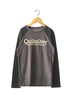 T-shirt manches longues gris QUIKSILVER pour garçon