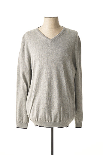 Pull col V gris OXBOW pour homme
