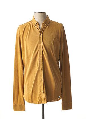 Chemise manches longues marron DSTREZZED pour homme