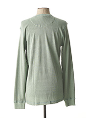 Pull col rond vert DSTREZZED pour homme seconde vue