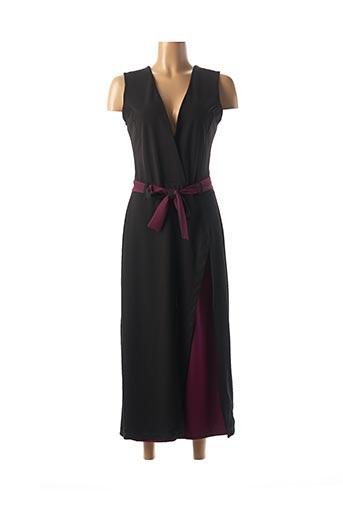 Combi-pantalon noir QUATRE VINGT JOURS pour femme