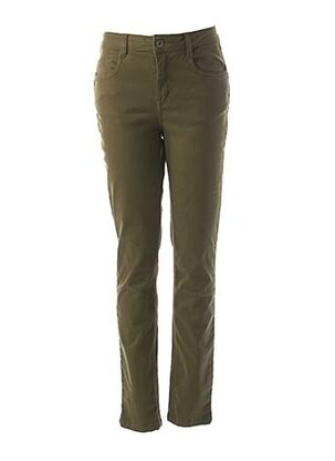 Pantalon casual vert LOLA ESPELETA pour femme