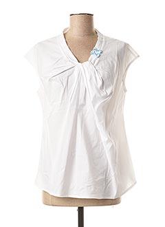 Blouse manches courtes blanc POUPEE CHIC pour femme