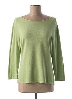 Pull col rond vert ELLEMME pour femme