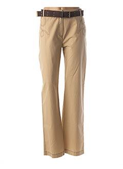 Pantalon casual beige BUGARRI pour femme
