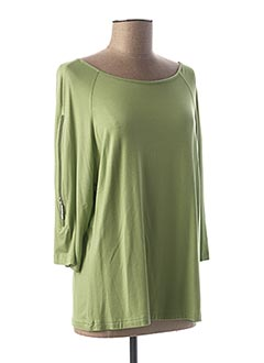 Tunique manches longues vert MADE IN ITALY pour femme
