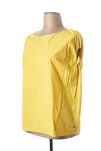Blouse manches courtes jaune OTTOD'AME pour femme