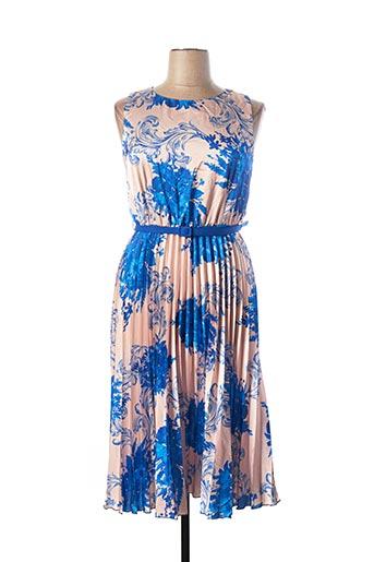 Robe mi-longue bleu RINASCIMENTO pour femme