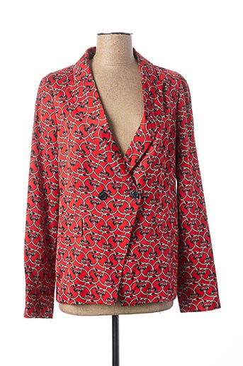 Veste chic / Blazer rouge MANILA GRACE pour femme