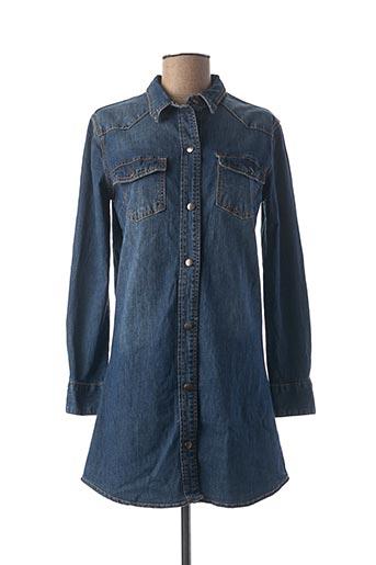 Robe courte bleu DENIM pour femme