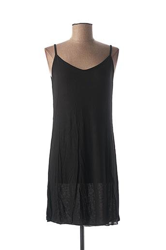 Robe mi-longue noir BKINI pour femme