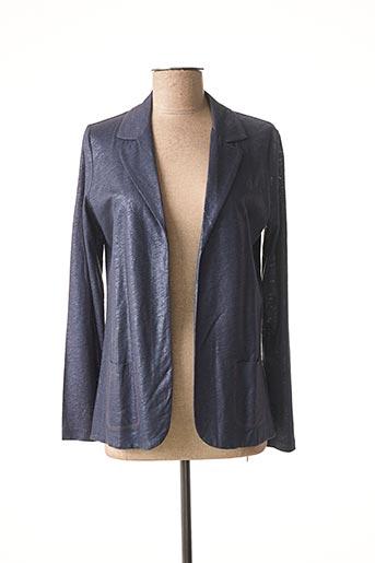 Veste casual bleu MAJESTIC FILATURES pour femme