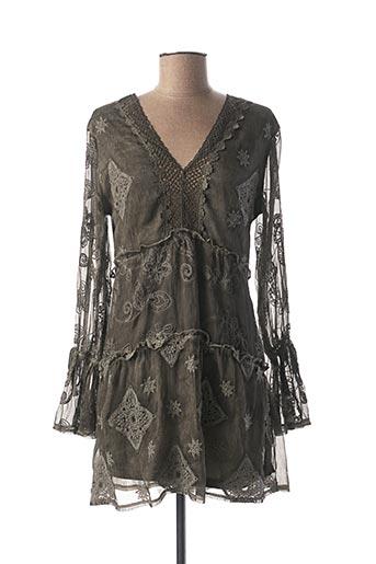 Robe courte vert 101 IDEES pour femme