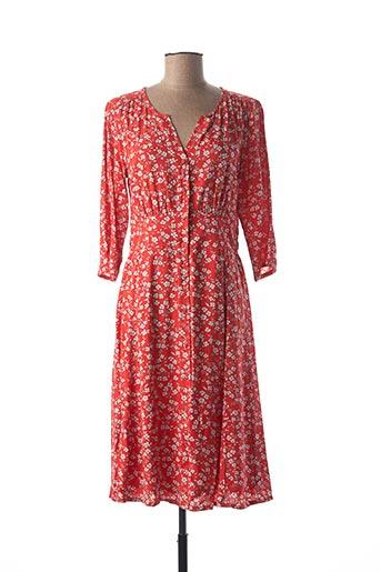 Robe mi-longue rouge CREAM pour femme