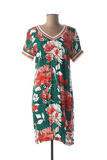 Robe mi-longue vert GEISHA pour femme