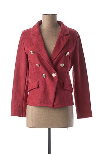 Veste chic / Blazer rouge IN VOGUE pour femme