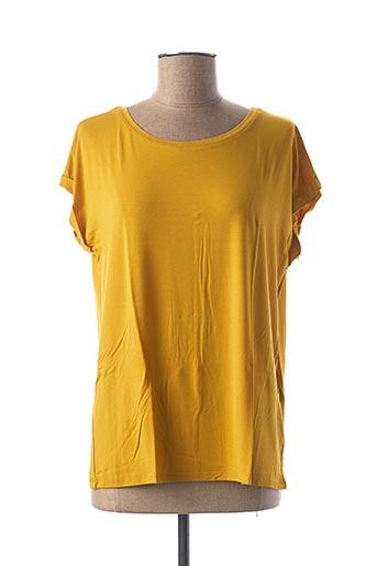 T-shirt manches courtes jaune GEISHA pour femme