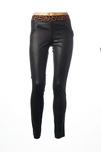 Pantalon casual noir GEISHA pour femme